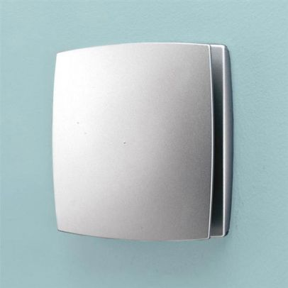 HIB Breeze Wall Mounted Extractor Fan With Timer Matte Silver