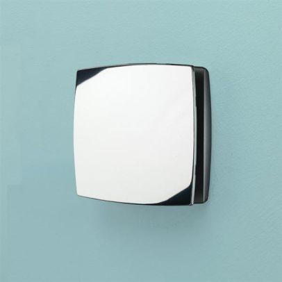 HIB Breeze Wall Mounted Bathroom Timer & Humidity Sensor Fan Chrome