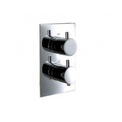 FROST 2 DIAL 1 WAY ROUND CONCEALED THERMOSTATIC VALVE