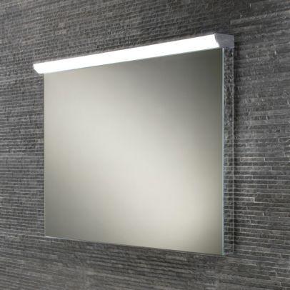 Hib Fleur Landscape mirror with steam free & LED top illumination with mirrored sides