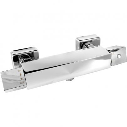 Krers Square Thermostatic Bar Valve Single Outlet