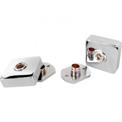 SQUARE WALL MOUNTED EASY FITTING KIT FOR SHOWER MIXER VALVE & BATH TAPS