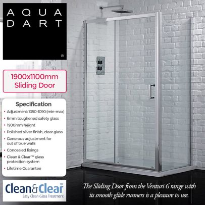Aquadart Venturi 6 1100mm slider Door