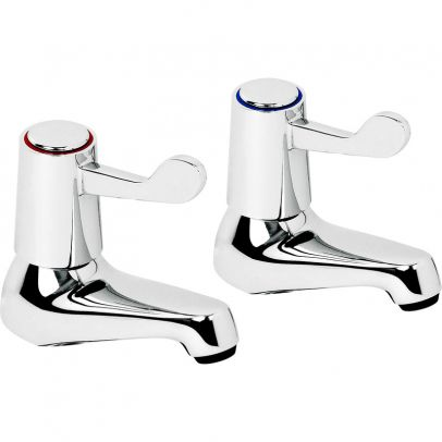 Lars Twin Large Contract Basin Taps Chrome