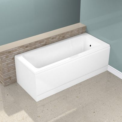 1700mm Square Single Ended Bathtub With Legs