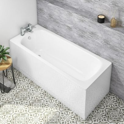 1500mm Standard Round Single Ended Bath With Legs