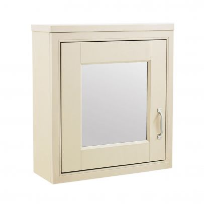 CHILTERN Ivory Traditional 500mm 1 Door Mirror Cabinet