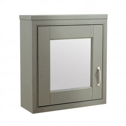 CHILTERN Stone Grey Traditional 500mm 1 Door Mirror Cabinet