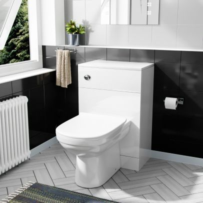 Benson 500mm WC Unit & BTW Curved Toilet Pan