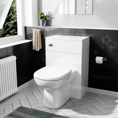 Dyon Back To Wall WC Unit & BTW Toilet Pan White