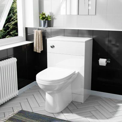 Melbourne Modern BTW WC Unit, Round Toilet and Soft Close Seat