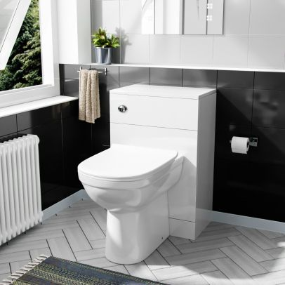 Debra Comfort Height BTW Toilet Pan With WC Unit And Cistern