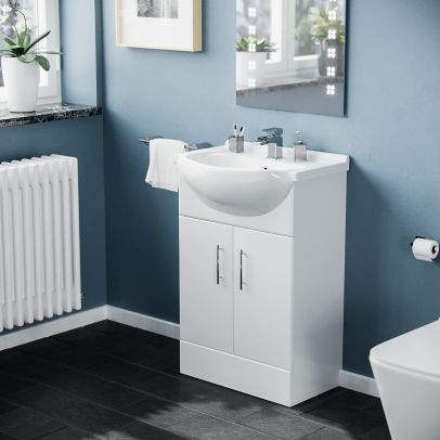 Laguna Cloakroom 550 mm Basin Vanity Cabinet Unit