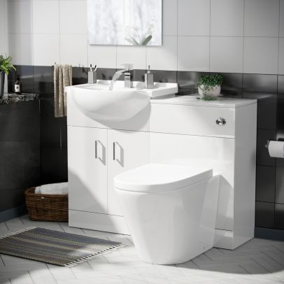 Laguna Basin 1050 mm Vanity Cabinet and Back to Wall WC Toilet Set