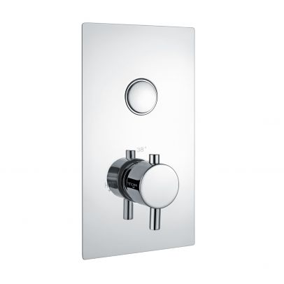 Fay Round Push Button Concealed Thermostatic Shower Valve (1 Outlets)
