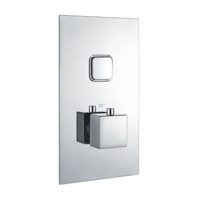 Fay Square Push Button Concealed Thermostatic Shower Valve (1 Outlets)