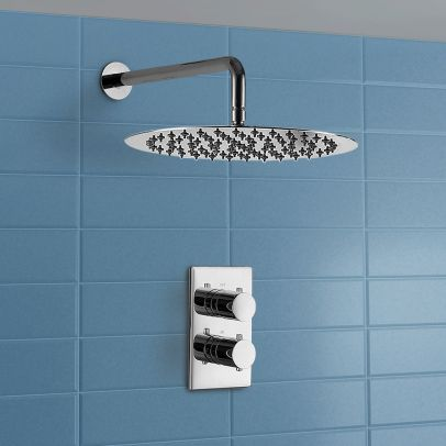 Wall Mounted Over Head Round Rain Shower Fixed 300 mm