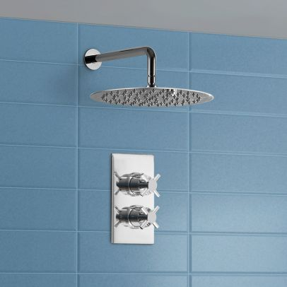 Rose 2 Dial 1 Way Concealed Overhead Shower