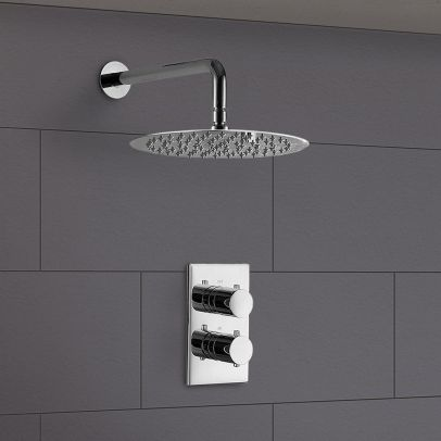 Lily Slim 2 Dial 1 Way Concealed Thermostatic Shower Mixer