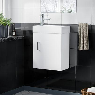 Nanuya 400 mm Wall Hung Basin Vanity Cabinet with Mini Mono Tap Set