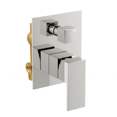 Concealed Twin Shower Mixer with Built-in Diverter - Chrome