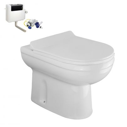 Ingersly Back To Wall Modern Toilet Pan & Soft Close Seat + Concealed Cistern
