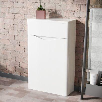 Lyndon Modern Back To Wall WC Unit BTW Bathroom Furniture White