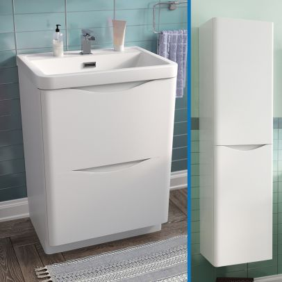 Lyndon 600 mm Wall Hung Vanity Unit with Storage Cabinet