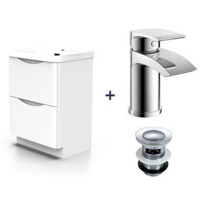 Lyndon White Basin Vanity Unit and Tap Set