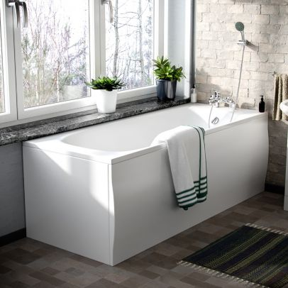 1700mm Standard Round Single Ended Bath With Legs