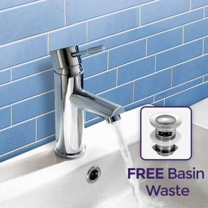 Blossom Round Bathroom Cloakroom Basin Mini Mixer Chrome Tap