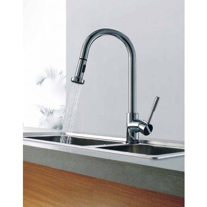 KITCHEN SINK FAUCET PULL OUT SPRAY MONO MIXER TAP