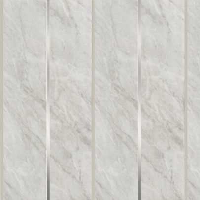 Grey Marble Silver 2700mm x 200mm x 6mm - Panel Sets