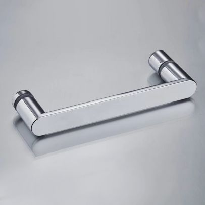 Universal Rounded Chrome 160 mm Shower Door Handle