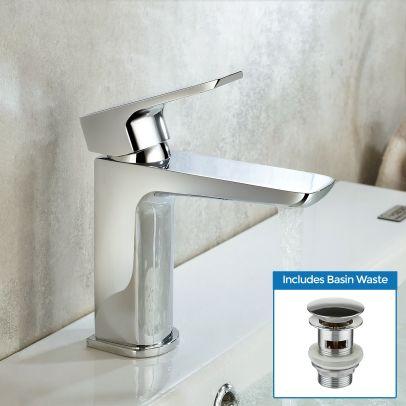 Keninton Bathroom Cloakroom Basin Mono Mixer Tap & Waste
