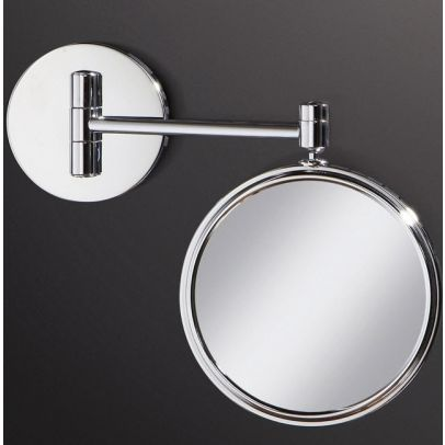 HiB Rico Circular Chrome Mirror With 3 x Magnification And Multi Positional Arm