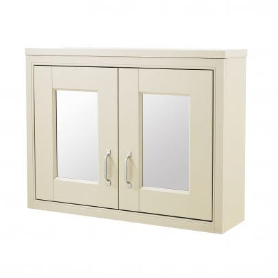 CHILTERN Ivory Traditional 690mm 2 Door Mirror Cabinet