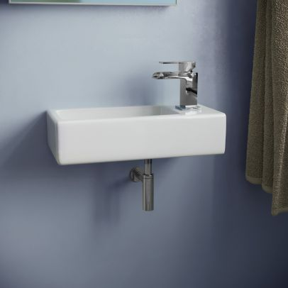 Wall Hung Right Handed Cloakroom 360mm Basin Sink