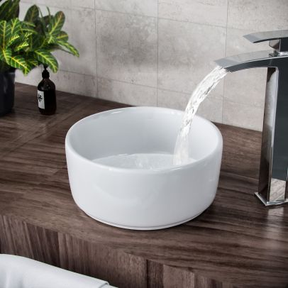 Etive 310mm Cloakroom Round Counter Top Basin Bowl