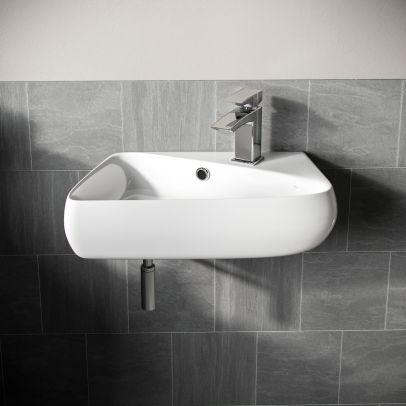 Tulla 455 x 275mm Rectangle Cloakroom Wall Hung Basin Sink