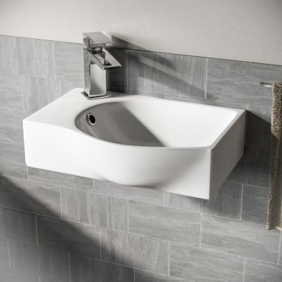 Tulla Cloakroom Rectangle Basin Sink