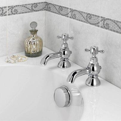 Churchill Bathroom Bath Hot and Cold Twin Taps