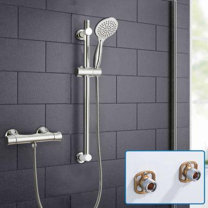 Rosa Round Exposed Thermostatic Shower Mixer Slider Rail Kit