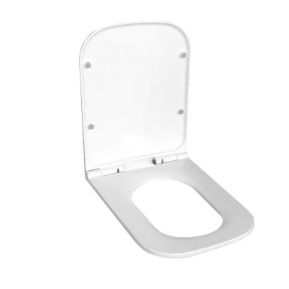 Square Shaped Quick Release Soft-Close Toilet Seat White