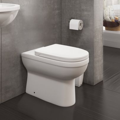 Melbourne Back To Wall Pan And WC Toilet Seat & Concealed Cistern Unit