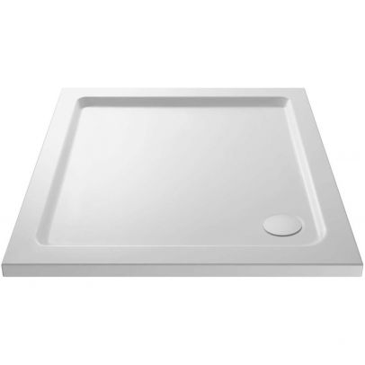 Slim 800 x 800 Square Stone Resin Shower Tray For Wetroom Enclosure