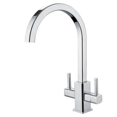 ALF Twin Handle Kitchen Sink Mixer Chrome
