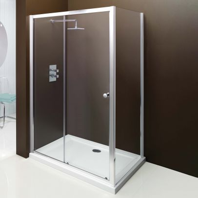 Merlyn Modern Bathroom Framed Shower Enclosure Sliderdoor 1100 X 1850mm