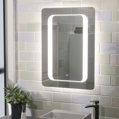 Mia Illuminated LED Bathroom Mirror with Anti Fog and Touch Switch