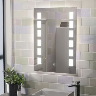 Noah Illuminated Large LED Mirror with Anti Fog and Touch Switch